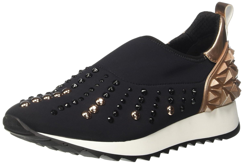 Cult Cream Slipon 1215, Sneaker a Collo Basso Donna Multicolore (Black/Pink Gold)