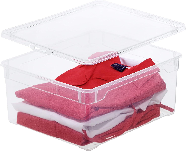 2er Set Gross Rothobabydesign Rotho 3343094094/Bo/îtes de Rangement en Plastique Transparent Plastique