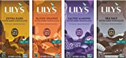 70% Dark Chocolate Bar Variety Sampler by Lily's Sweets | Stevia Sweetened, No Added Sugar, Low-Carb, Keto Friendly | 70% Cac