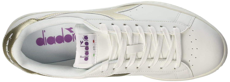 Diadora Herren Chromium Game P Chromium Herren Sneakers Elfenbein (Bianco/Oro) 2540ce