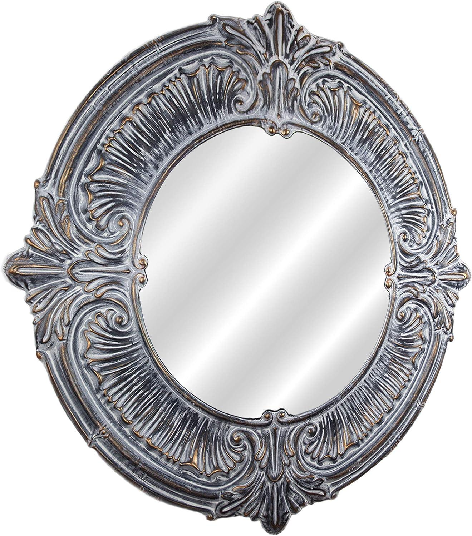 Amazon Com American Art Decor Baroque Style Metal Framed Wall Vanity Mirror Farmhouse Decor 39 Home Kitchen