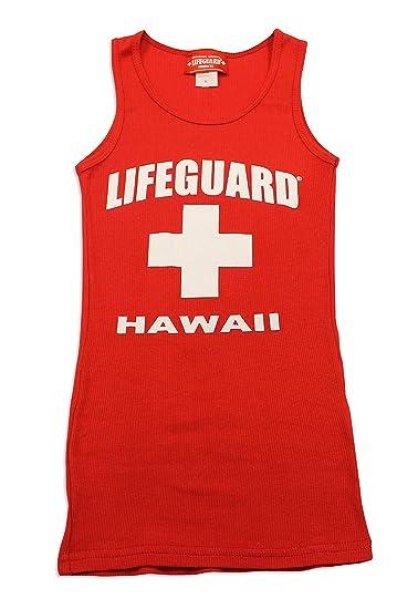 7cd23f91cfb Amazon.com  Maui Clothing Lifeguard Hawaii Womens Rib Tank Top  Clothing