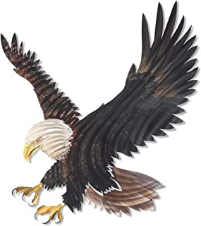 product image for 3D Metal Wall Art - Bald Eagle Wall Decor - Country Wall Art - Handmade in the USA for Use Indoors or Outdoors