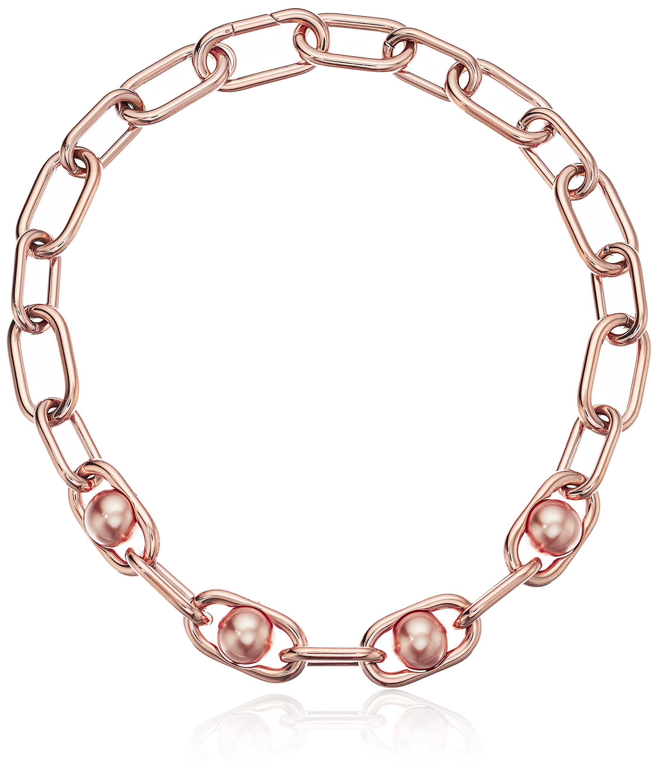 Michael Kors ''Fashion Pearl Links Rose Gold-Tone Collar Pendant Necklace