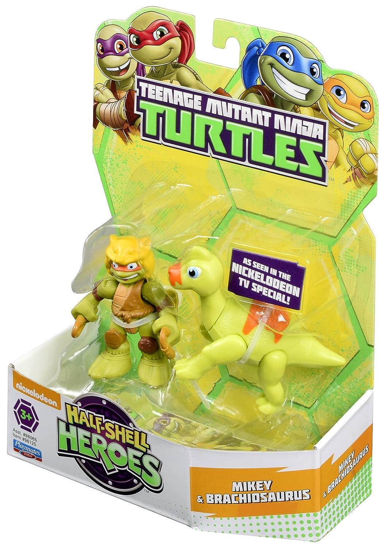 Las Tortugas Ninja Heroes Media Caja de Dino Mikey y Figura ...