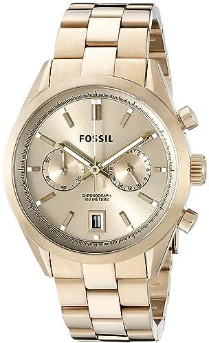 Fósil de Hombre ch2993 del Rey Cronógrafo Acero Inoxidable Reloj - Tono Dorado: Fossil: Amazon.es: Relojes