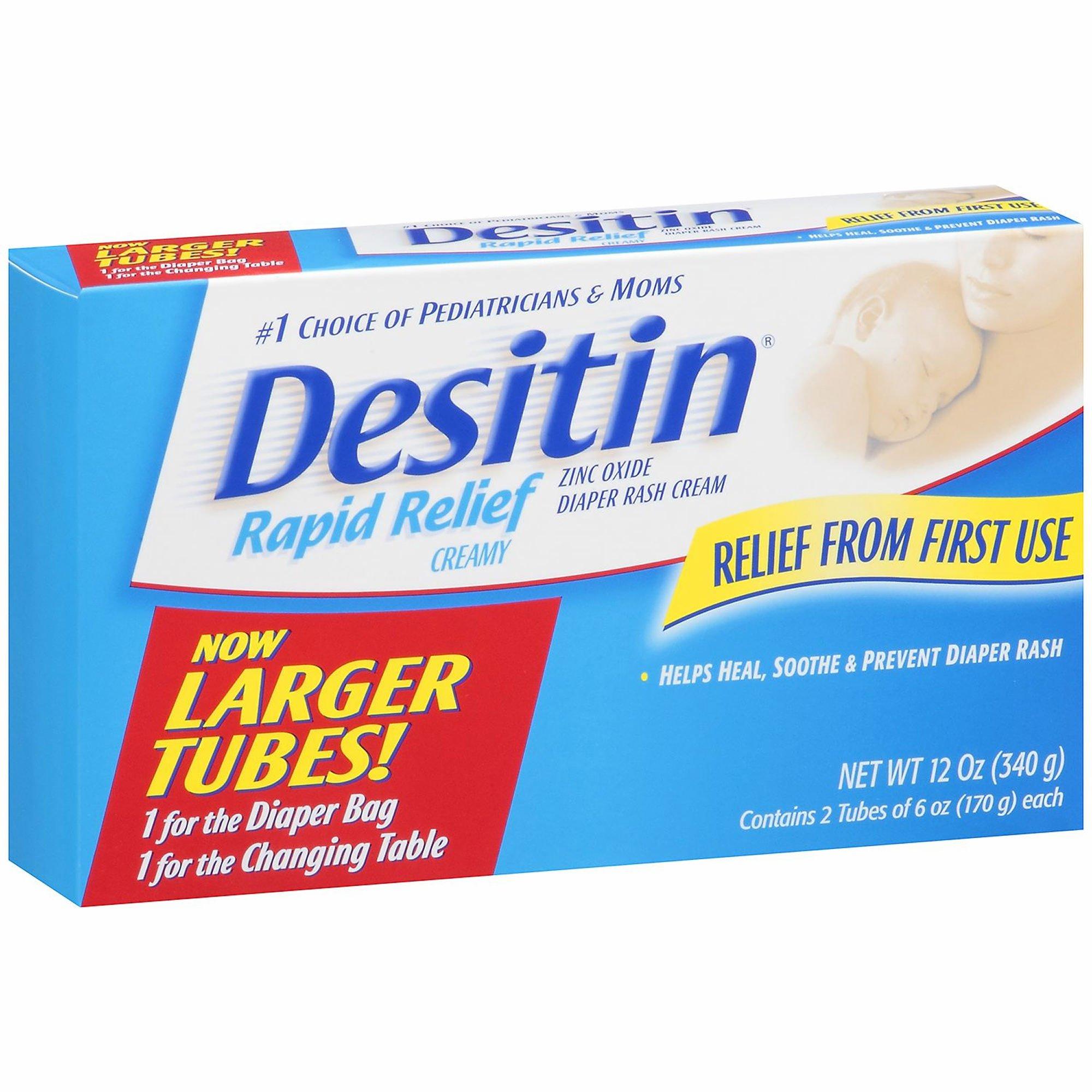Desitin Rapid Relief Cream, 2 pk./6 oz. (pack of 6)