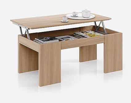 Mesa o mesita de centro elevable para salon o comedor en color ...