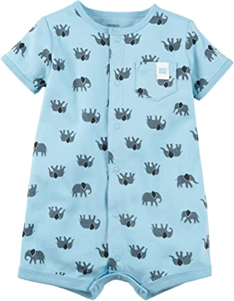 9b1d81bc0 Amazon.com  Carter s Baby Boys  Elephant Snap up Cotton Romper  Clothing
