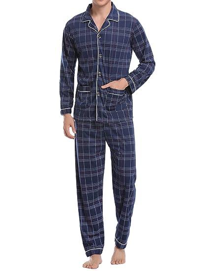 a6fdca7832997 2018 Nouveau 2 PCS Pyjamas Ensembles Mâle(2 Styles Coton Satin) Vêtements