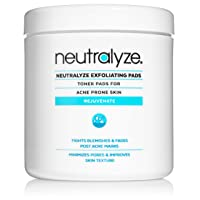 Neutralyze Exfoliating Pads - Maximum Strength Acne Treatment Pads with 2% Salicylic Acid + 1% Mandelic Acid + Nitrogen Boost Skincare Technology (100 Acne Wipes)