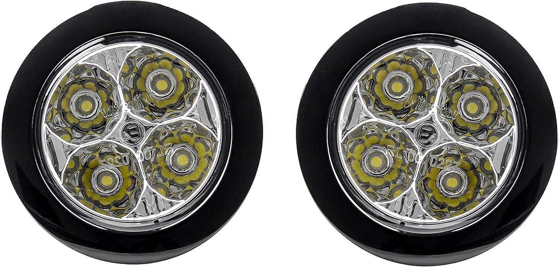 AUTOLIGHT 24 I LED Tagfahrlicht 8 SMD rund /Ø70-90mm E-Pr/üfzeichen R87 6000 Kelvin E4