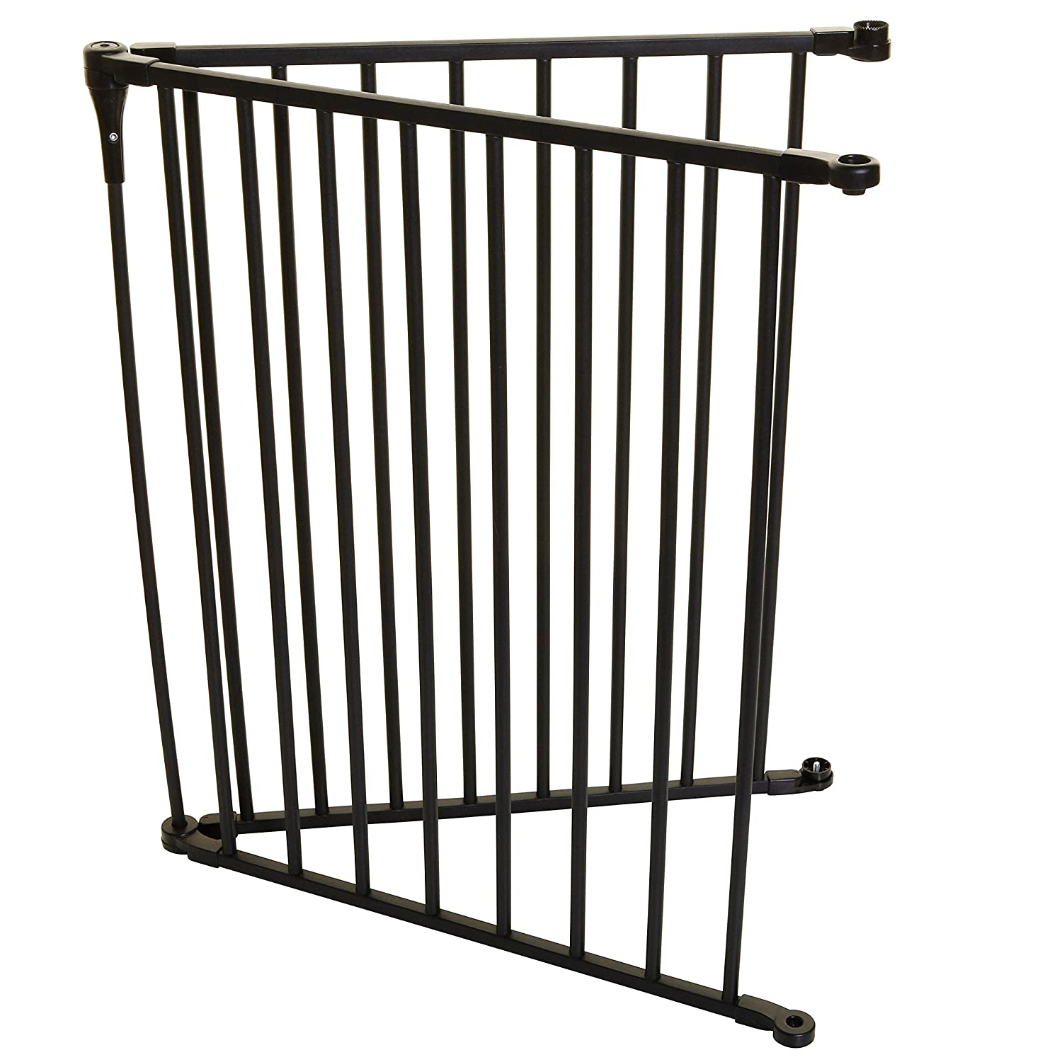 Safety Innovations No Hole Stairway Baby Gate Mounting Kit – Fits Posts from 2 3 4 inches to 3 5 8 inches Wide with Square or Round Tops – No Adhesives On Or Screws in Your Posts, 1-Pack