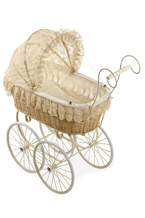 Amazon.com: Arias 69.5 x 40.7 x 28 cm Elegance Doll Wicker Cart: Toys & Games