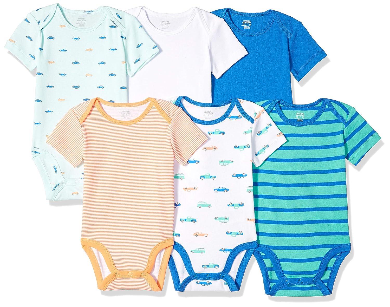 Essentials 6-Pack Short-Sleeve Bodysuit Beb/é-Ni/ños