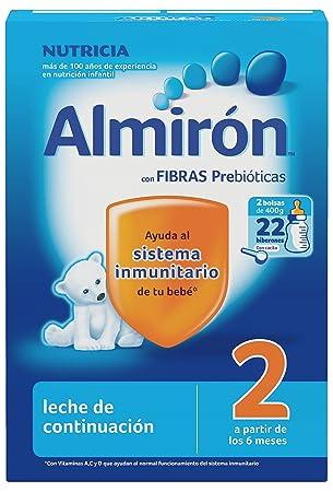 Almirón Leche en Polvo 6m+ - Paquete de 2 x 400 gr - Total: 800 gr: Amazon.es: Amazon Pantry