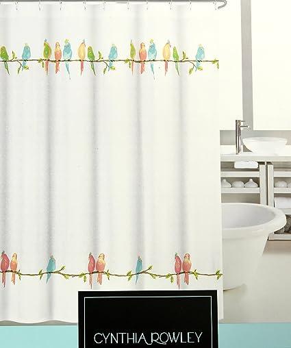 Amazon Cynthia Rowley New York Parakeet Fabric Shower Curtain