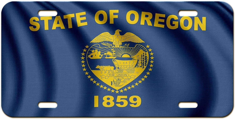 ExpressItBest Premium Aluminum License Plate - Flag of Oregon