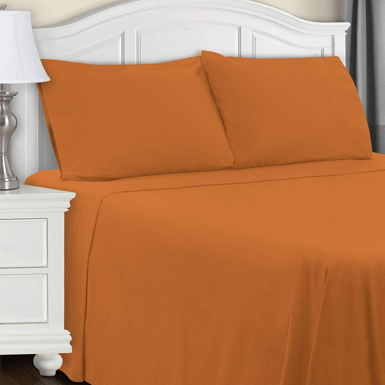SUPERIOR Flannel Cotton Pillowcase Set - Standard - Pumpkin
