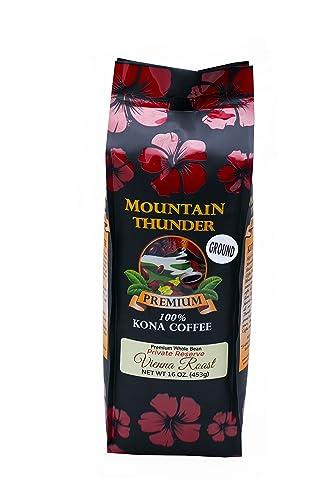 Plantacja kawy Mountain Thunder 100% kawy Kona - Pieczeń Wiedeńska