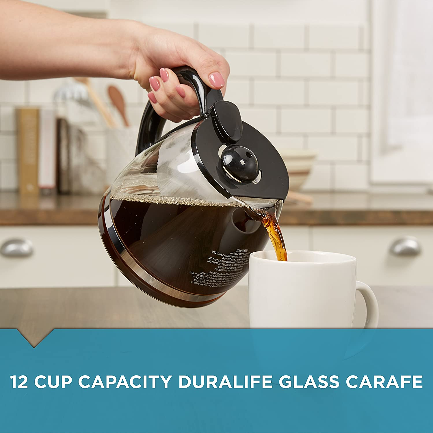 BLACK+DECKER 12-Cup Replacement Carafe with Duralife Construction, Glass