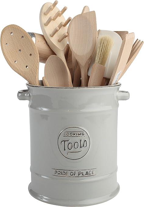 T G Woodware Pot Ustensiles Cuisine Deco Vintage Ceramique Gris