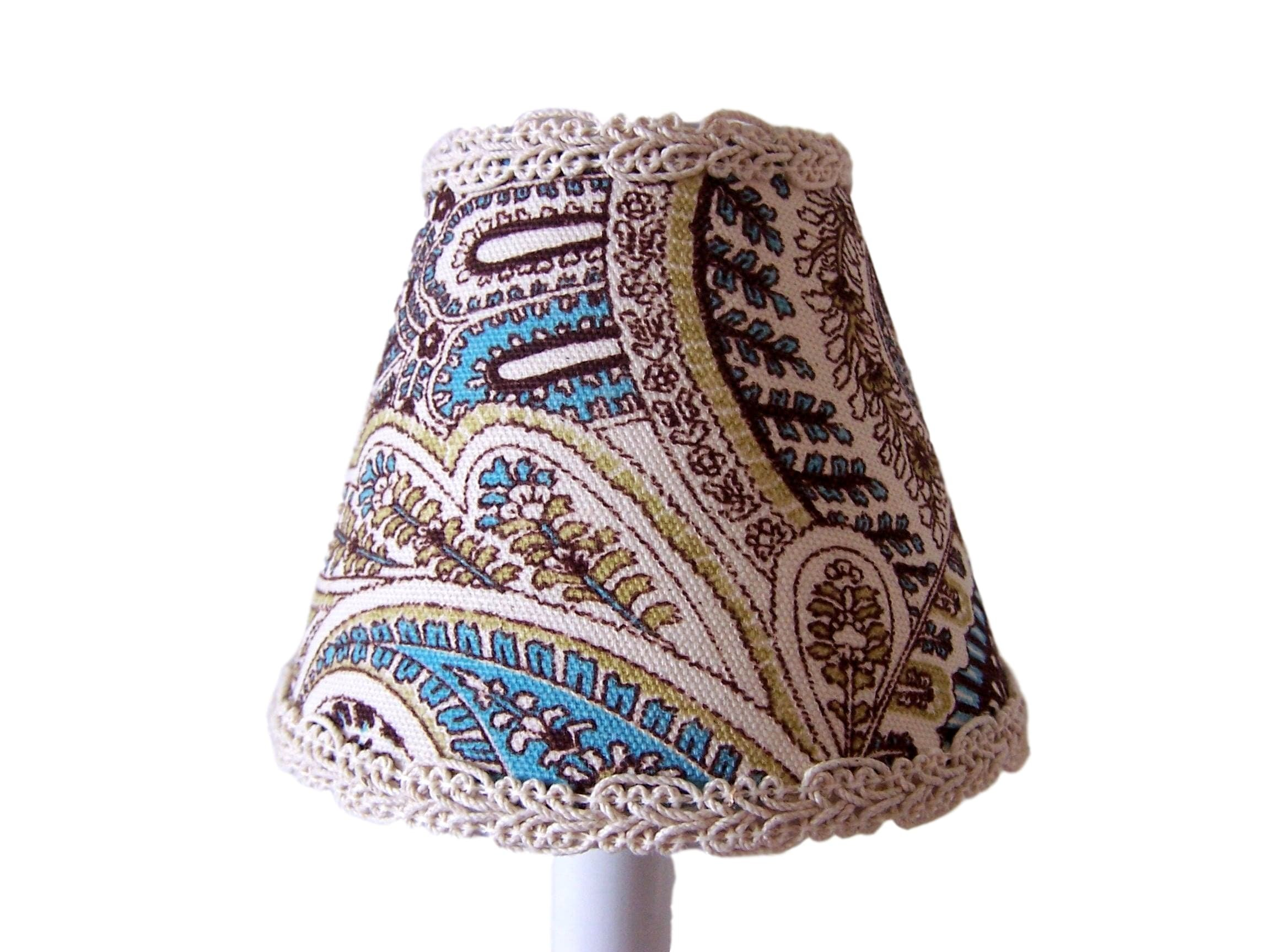 Silly Bear Lighting Paisley Power Lamp Shade, Multicolor