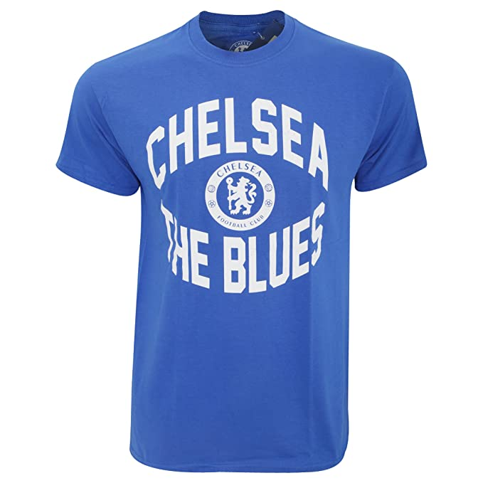 Chelsea FC Mens Official Short Sleeve The Blues Soccer/Football Crest T-Shirt (