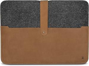 KANVASA MacBook Air 11 Inch Felt Leather Sleeve Woods - Premium MacBook Case Cover Grey/Brown - Vintage Laptop Bag from Wool Blend Felt & Genuine Leather