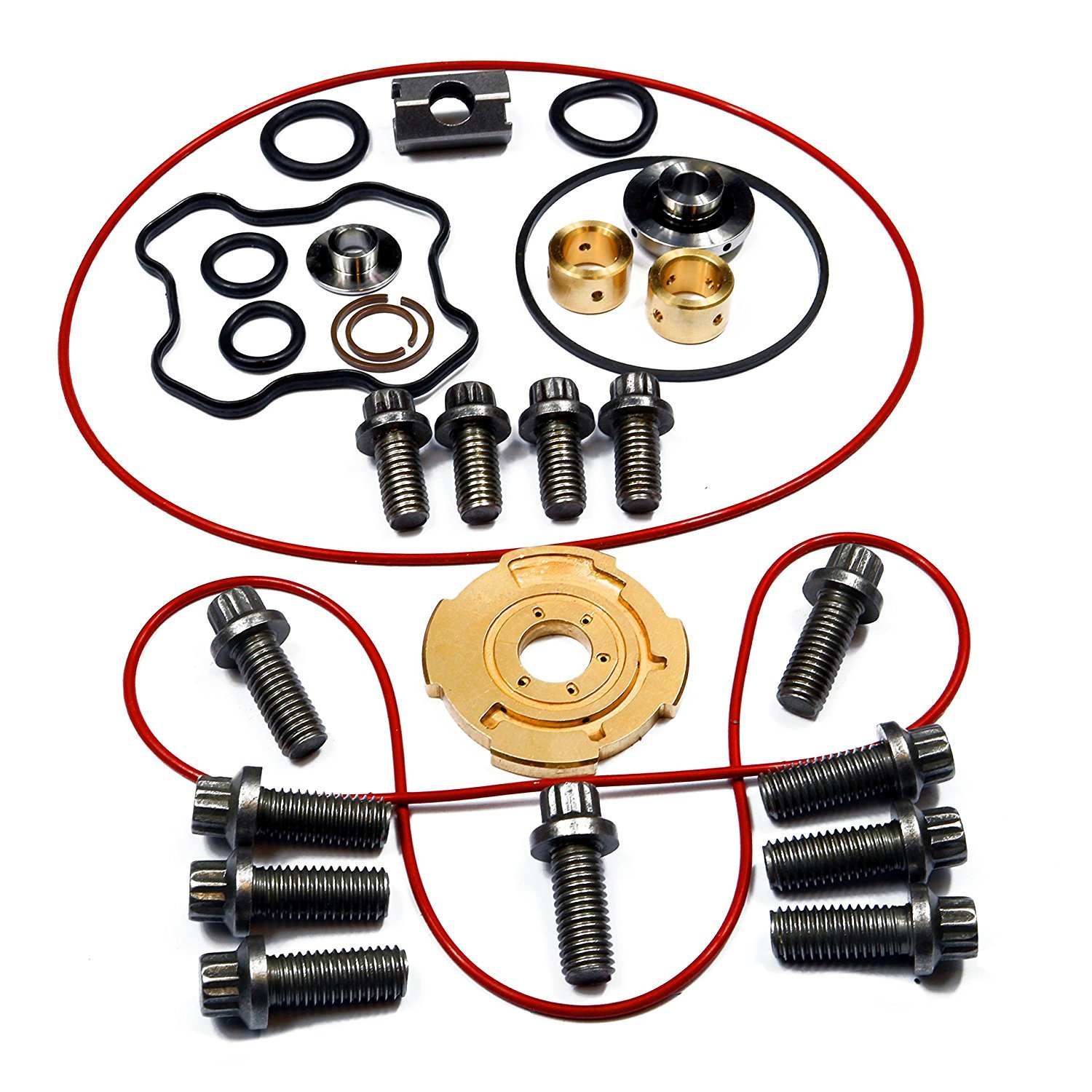 Installation Instructions Included 1994-2003 Ford 7.3L Powerstroke Turbo Upgraded Rebuild Kit 360/° Thrust for Garrett GTP38 /& TP38