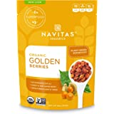 Navitas Organics Goldenberries, 8 oz. Bags (Pack of 2) — Organic, Non-GMO, Sun-Dried, Sulfite-Free
