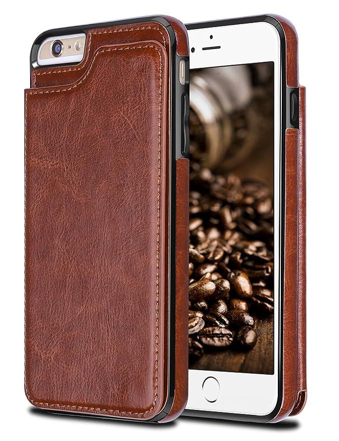 29 opinioni per iPhone 6 Plus Custodia,Coolden® PU Cuoio Ultra Sottile Slim Case Protettiva Flip