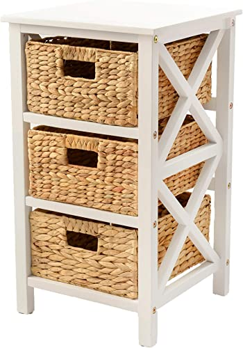 eHemco 3 Tier X-Side End Table/Cabinet Storage