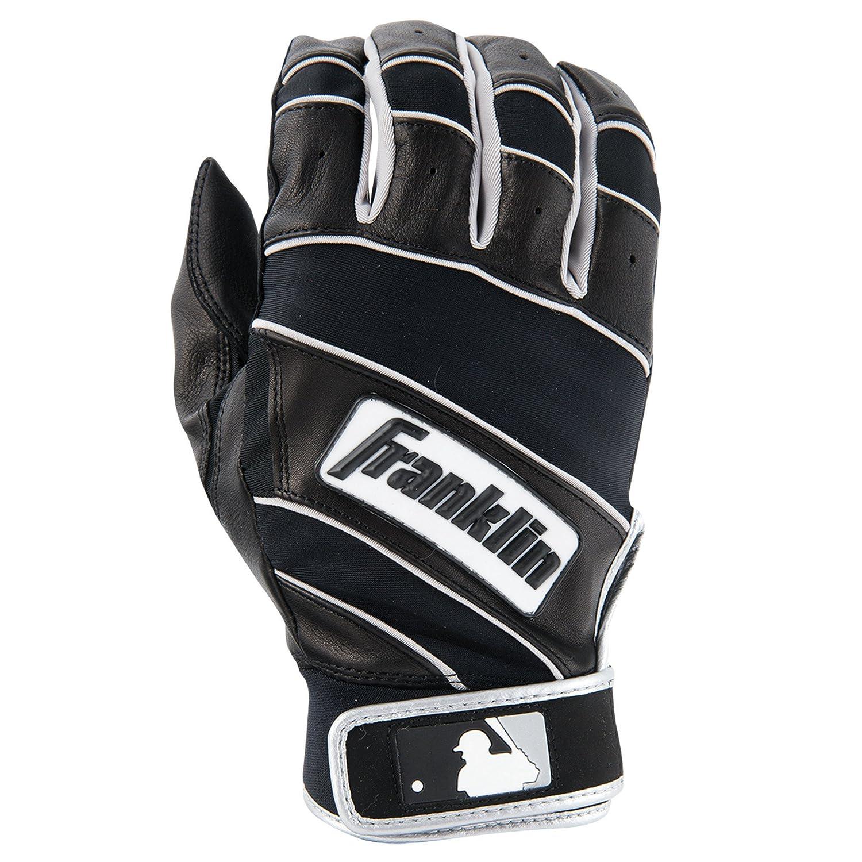 Franklinスポーツの自然IIバッティンググローブ B00N4M3UA8 Large|ブラック/ブラック ブラック/ブラック Large