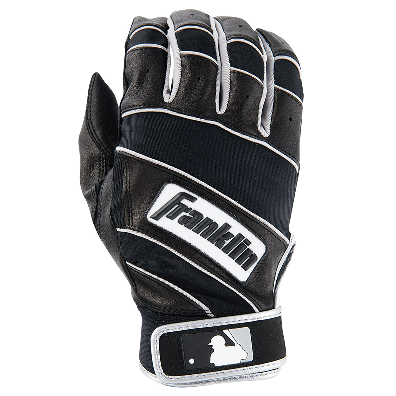 Franklinスポーツの自然IIバッティンググローブ B00N4M3WFQ XL|ブラック/ブラック ブラック/ブラック XL