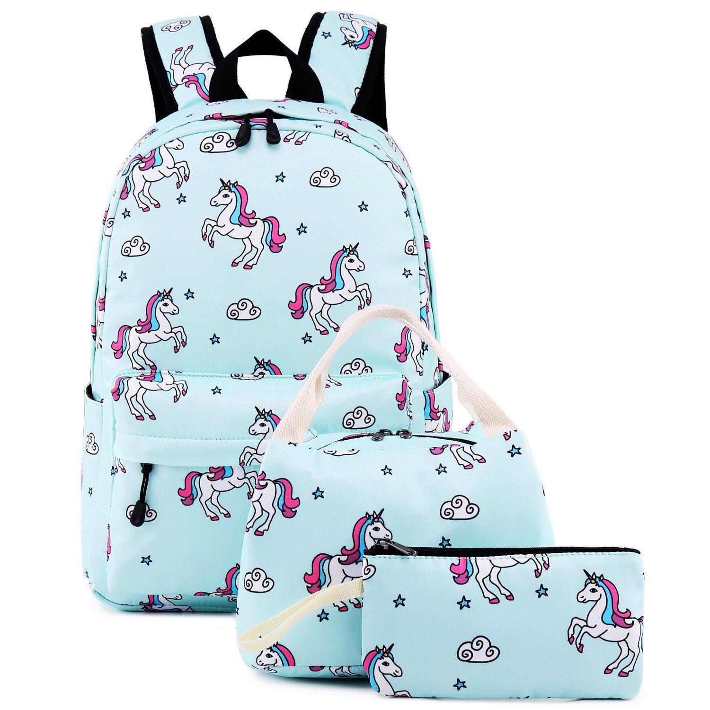 Teens Backpacks For School Girls bookbags Cute Backpack Sets Water Resistant School Bag