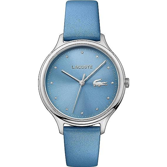 Lacoste Reloj Análogo clásico para Mujer de Cuarzo con Correa en Cuero 2001006