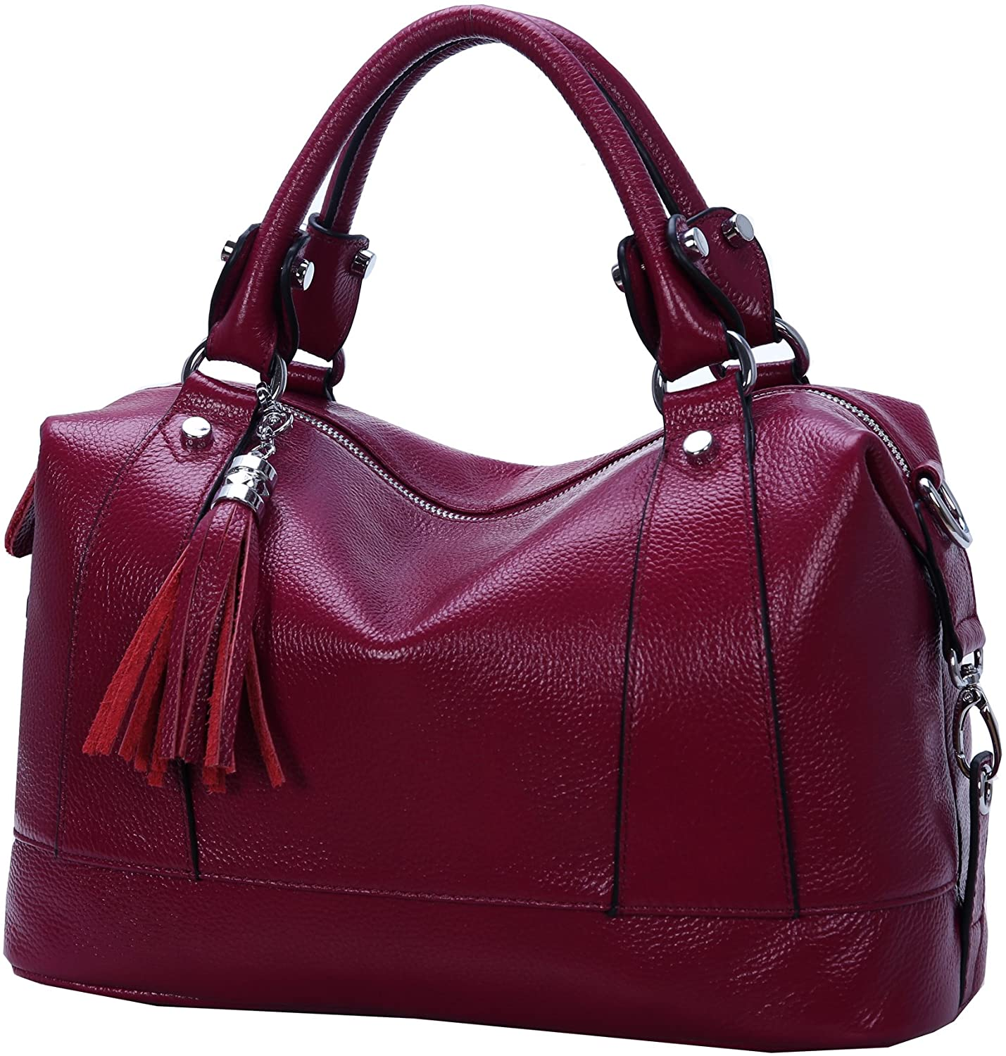 Heshe Leather Shoulder Bag Womens Tote Top Handle Handbags Cross Body Bags for Office Lady