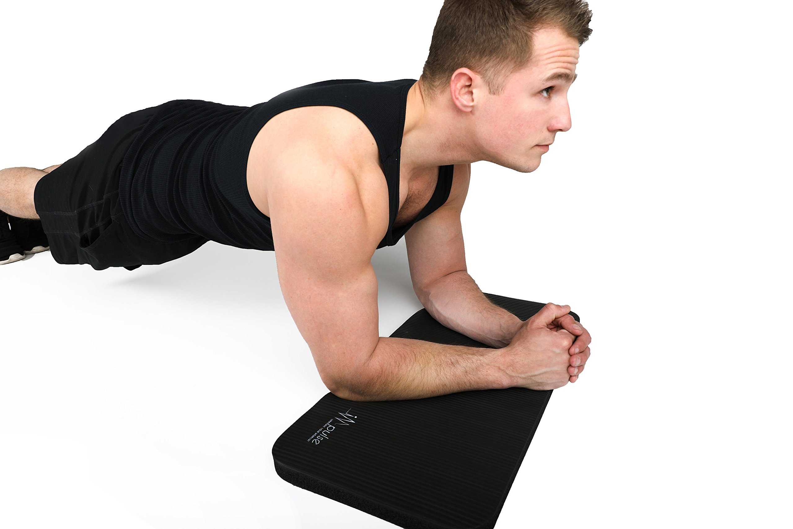 """Impulse Fitness Knee Mat - Extra Thick and Soft 1"""" (25mm) Pad Provides Cushion for Kneeling and Elbows 
