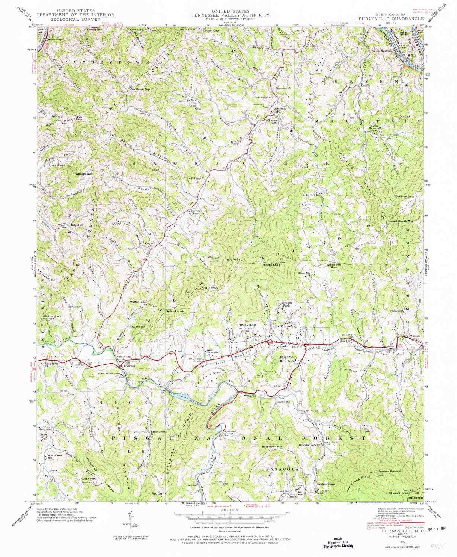 Amazon Com Yellowmaps Burnsville Nc Topo Map 1 24000 Scale 7 5 X