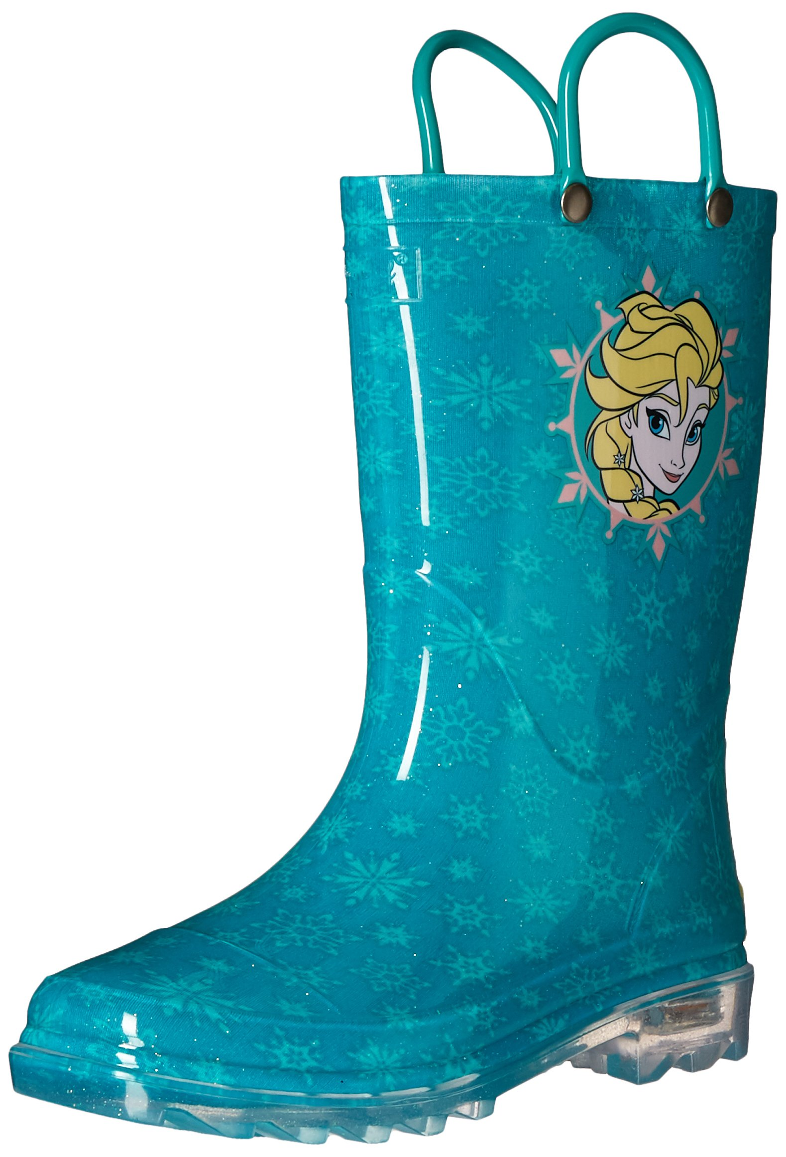 Western Chief Kids Girls' Waterproof Rain Boots That Light up with Each Step, Frozen Elsa and and, 13 M US Little Kid by Western Chief (Image #1)