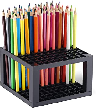 96 Hole Plastic Pencil /& Brush Holder Desktop Collectibles Office Supply