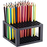CAXXA 96 Hole Art Plastic Pencil & Brush Holder Desk Stand Organizer Holder for Pens, Paint Brushes, Colored Pencils…