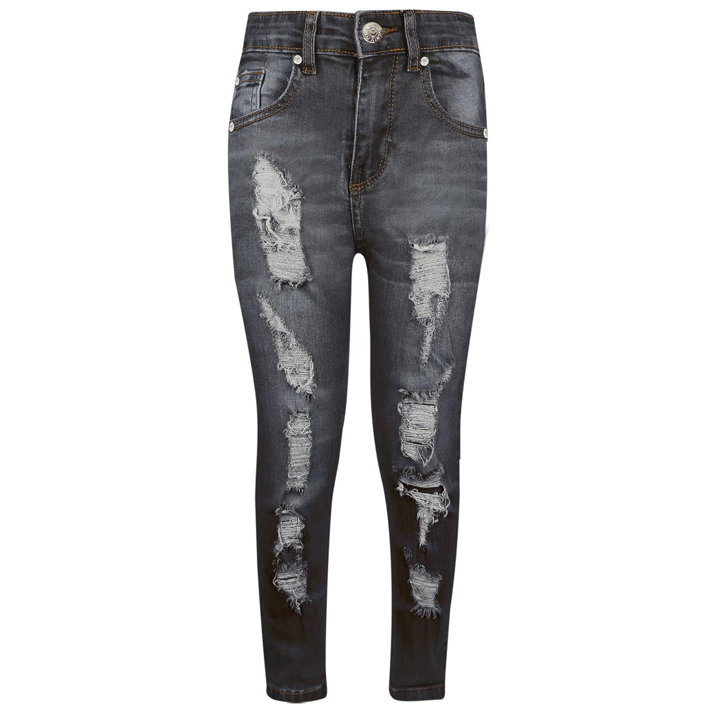 A2Z 4 Kids® Bambini Elasticizzati Jeans Ragazzi Jeggings Strappato Alla Moda Magro Pantaloni Moda Pantaloni Età 5 6 7 8 9 10 11 12 Anni