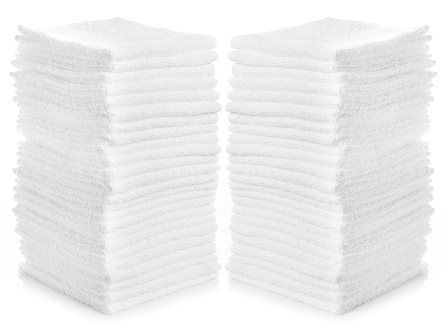 Cleaning Solutions 79078 Cotton Washcloths (24 Pack), 12