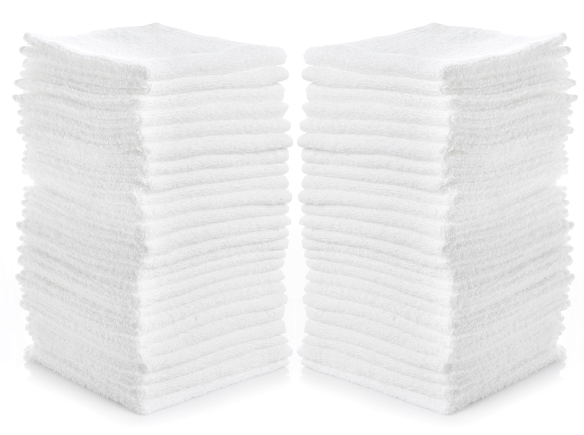 Cleaning Solutions 79078 Cotton Washcloths, 12'' x 12'', White (Pack of 24), 24-Pack