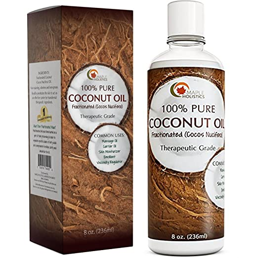 The Maple Holistics Coconut Oil travel product recommended by Adina Mahalli on Pretty Progressive.