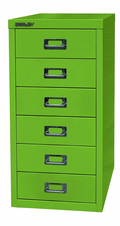 BISLEY L296104 - Schubladenschrank - Farbe grün - HxBxT 590 x 279 x 380 mm