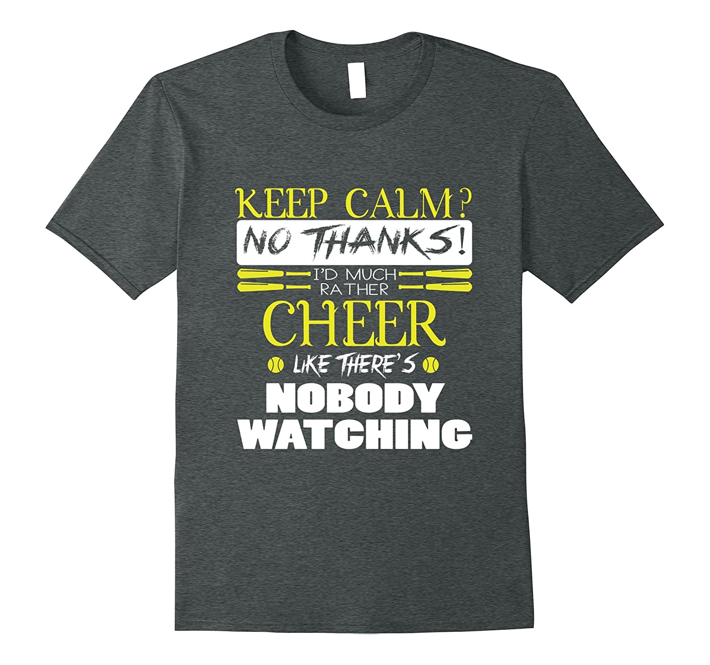 Id Much Rather Cheer T Shirt Softball T Shirt-Vaci