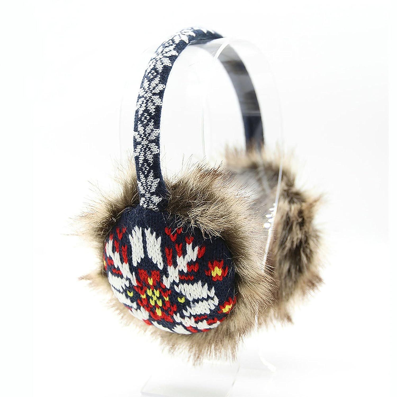 KBB Women Fashionable Winter Warm Acrylic Fluffy Earmuffs